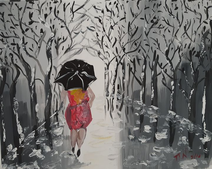 ''The woman with the umbrella'' - Polina NTALAMPIRA