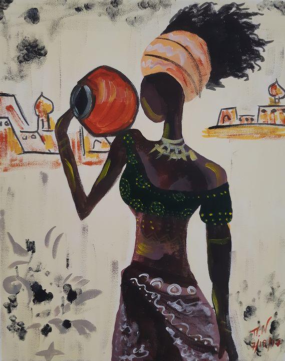 ''African woman'' - Polina NTALAMPIRA