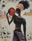 African woman.