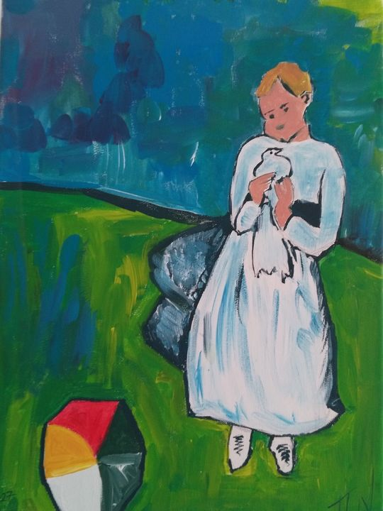 ''Child with a Dove' - Pablo Picasso - Polina NTALAMPIRA