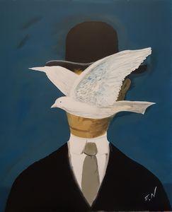 Magritte - Man with a bowler hat - Polina NTALAMPIRA