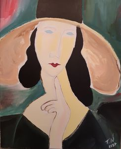 Modigliani-Jeanne Hebuterne - Polina NTALAMPIRA