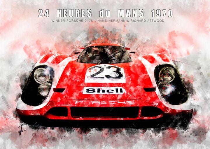 Porsche 917, Le Mans Winner 1970 - Theodor Decker