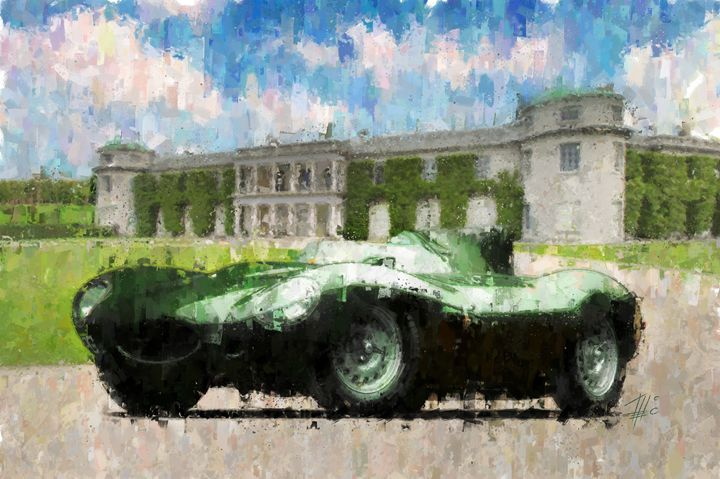 Jaguar D-Type at Goodwood House - Theodor Decker