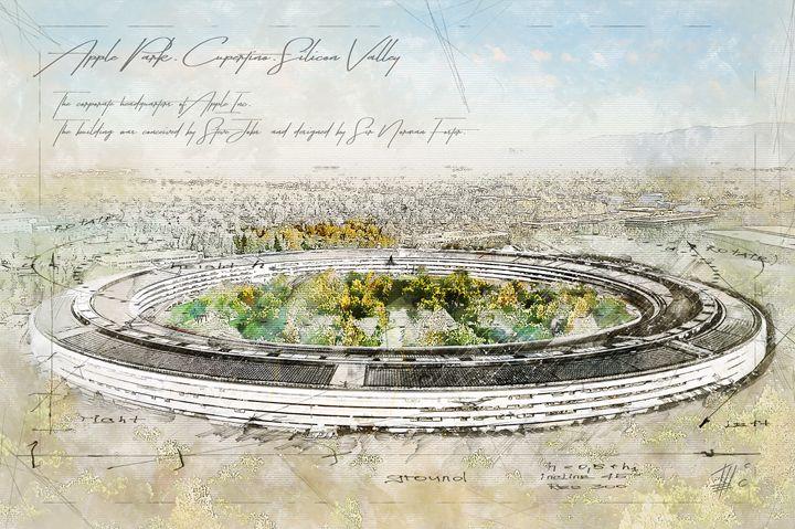 Apple Park, Cupertino,Silicon Valley - Theodor Decker