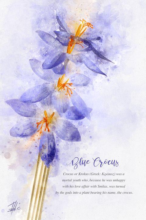 Blue Crocus - Theodor Decker
