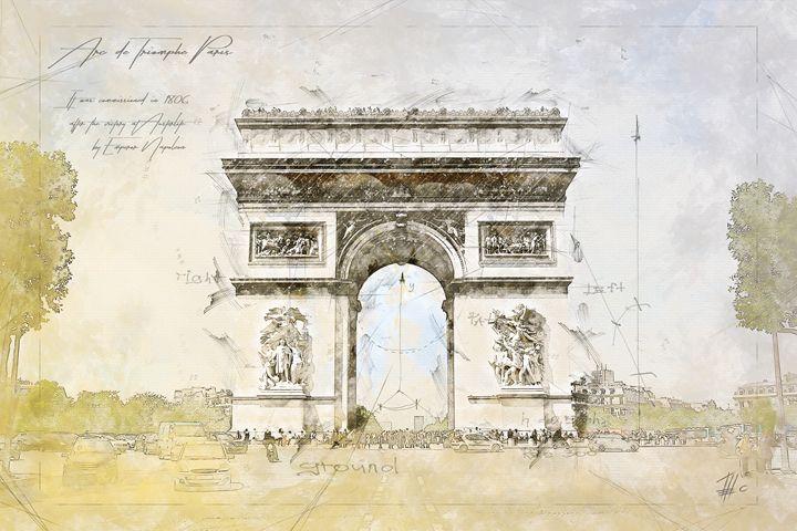 Arc de Triomphe, Paris France - Theodor Decker