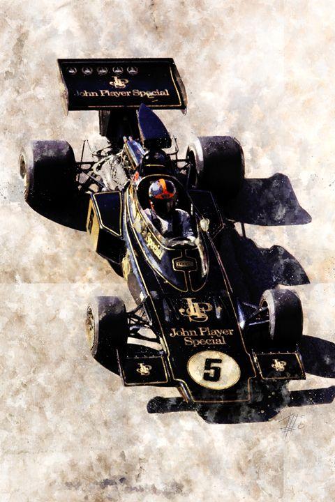 Emerson Fittipaldi on Lotus - Theodor Decker
