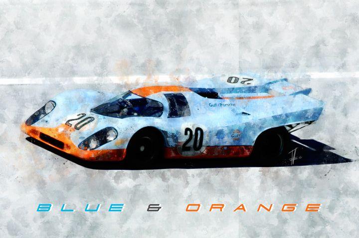 917 Guld Blue and Orange - Theodor Decker