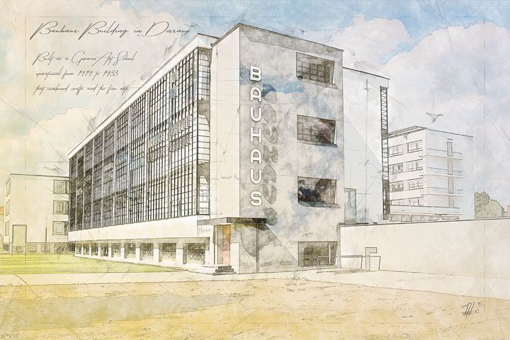 Bauhaus Building, Dessau Germany - Theodor Decker
