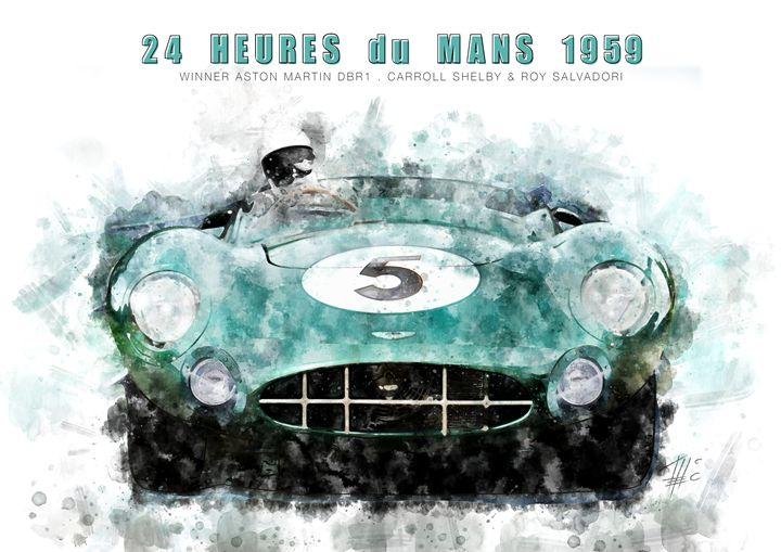 Aston Martin DBR1 Le Mans 1959 - Theodor Decker