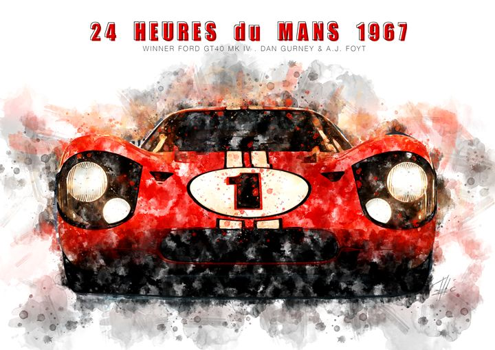 Ford GT40 MK IV Le Mans 1967 - Theodor Decker