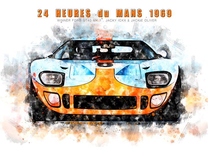 Ford GT40 Le Mans 1969 - Theodor Decker