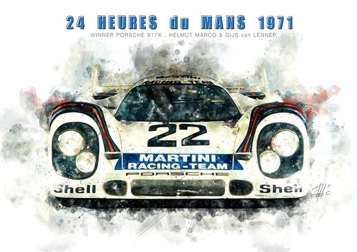 Porsche 917 Le Mans 1971 - Theodor Decker