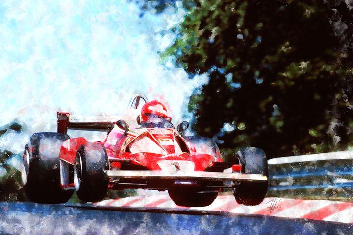 Niki Lauda on Ferrari - Theodor Decker