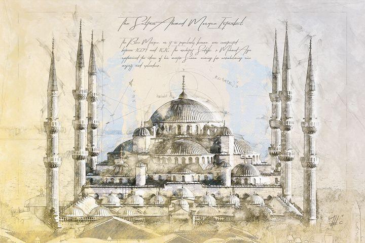 Blue Mosque, Istanbul Turkey - Theodor Decker