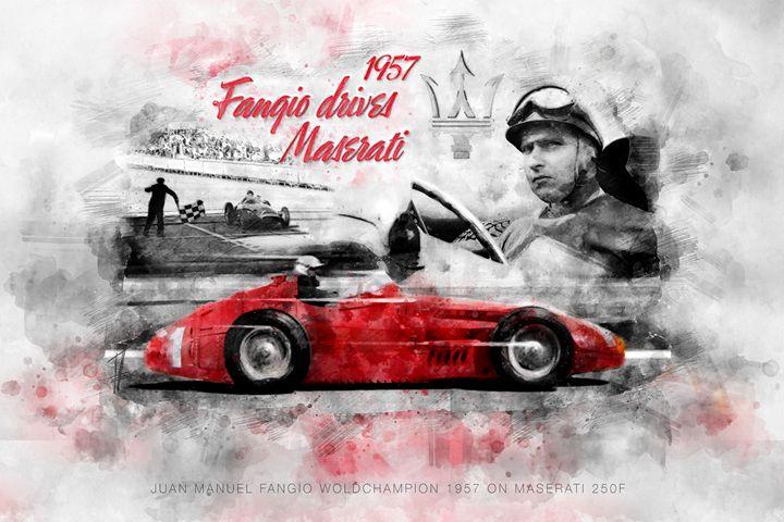 Fangio drives Maserati 1957 - Theodor Decker
