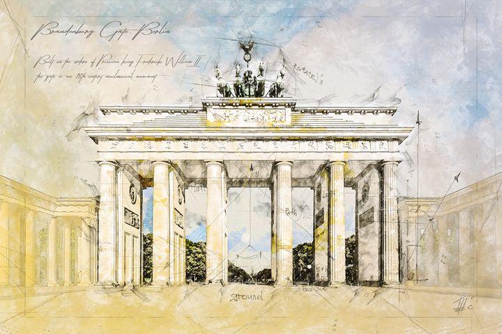 Brandenburg Gate, Berlin - Theodor Decker