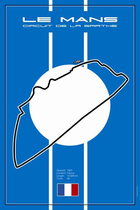 Le Mans France Racetrack - Theodor Decker