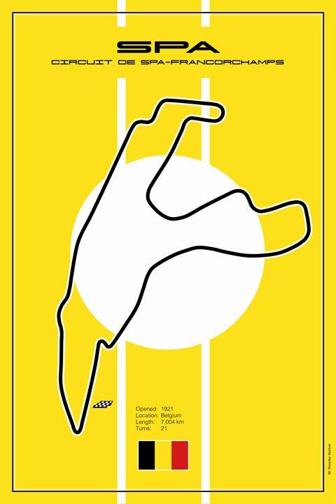 Spa Belgium Racetrack - Theodor Decker