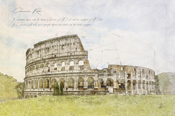 Colosseum, Rome - Theodor Decker