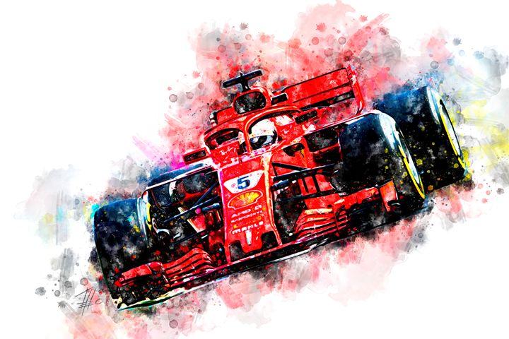Sebastian Vettel 2018 - Theodor Decker