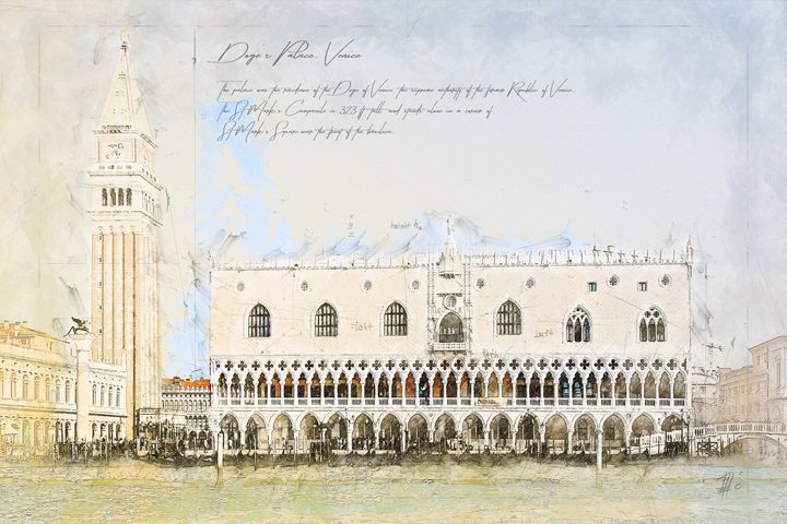 Doge's Palace, Venice Italy - Theodor Decker