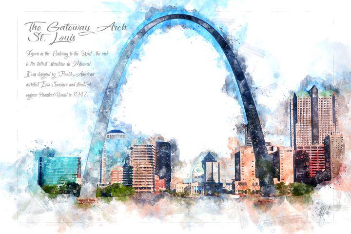 Gateway Arg, St. Louis, Watercolor - Theodor Decker
