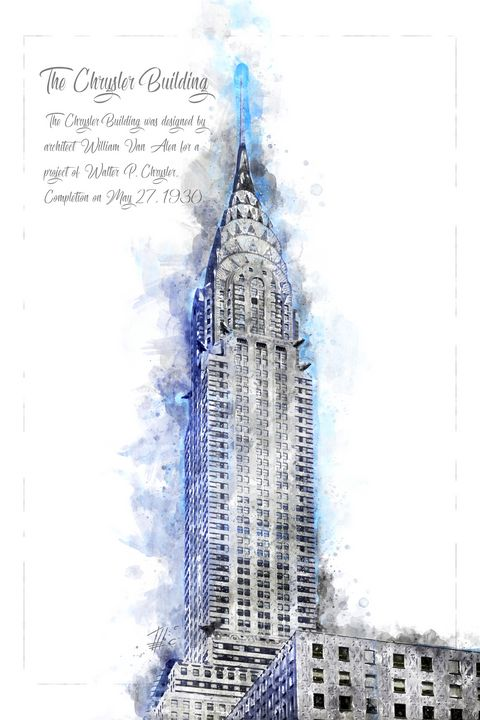 Chrysler Building, Watercolor - Theodor Decker
