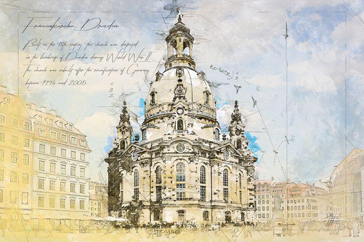 Frauenkirche, Dresden Germany - Theodor Decker