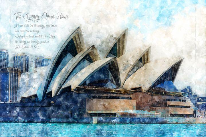 Sydney Opera, Watercolor - Theodor Decker