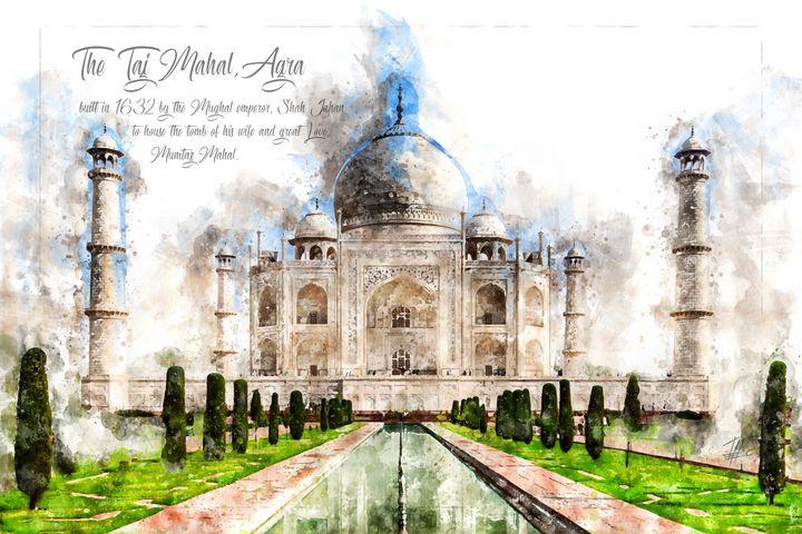 Taj Mahal, Watercolor - Theodor Decker