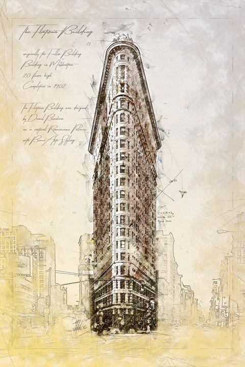 Flat Iron Building, New York - Theodor Decker