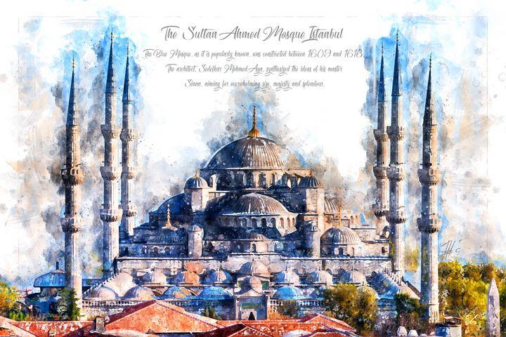 Blue Mosque, Istanbul - Theodor Decker