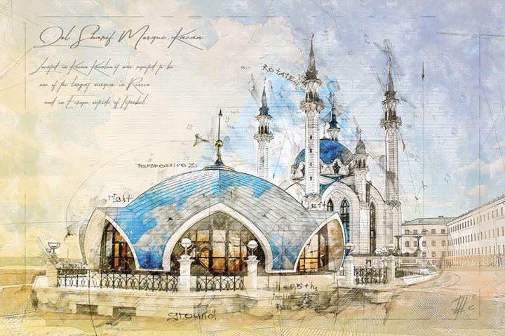 Kul Sharif Mosque, Kazan - Theodor Decker