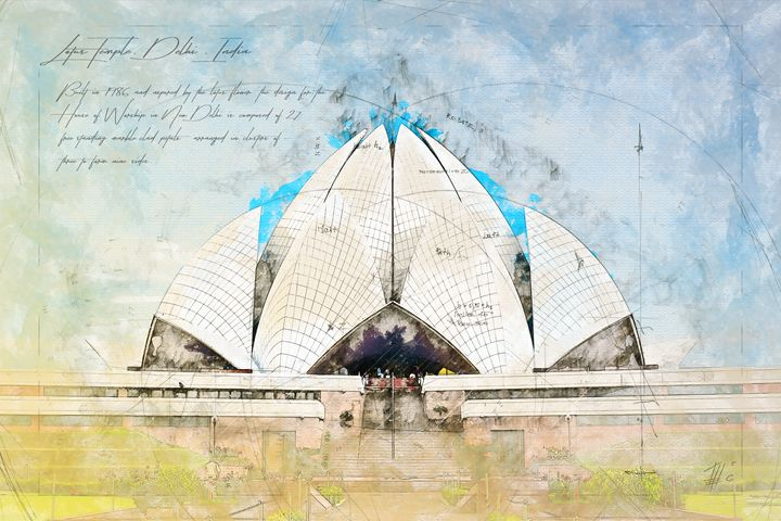 Lotus Temple, Delhi India - Theodor Decker