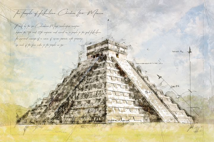Maya Pyramid, Mexico - Theodor Decker