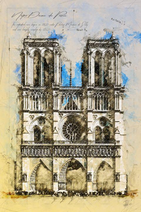 Notre Dame Cathedral, Paris - Theodor Decker