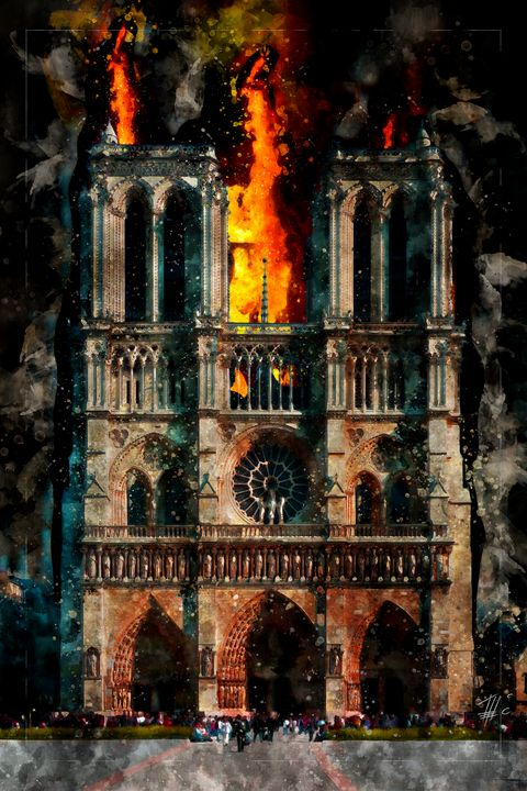 Notre Dame Cathedral burning - Theodor Decker