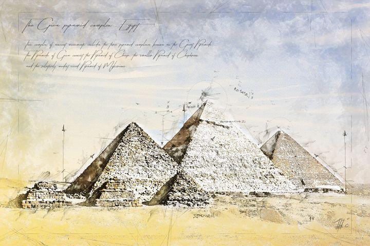 Pyramides of Giza, Cairo Egypt - Theodor Decker