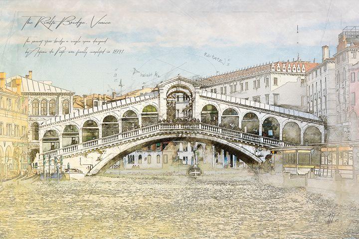 Rialto Bridge, Venice Italy - Theodor Decker