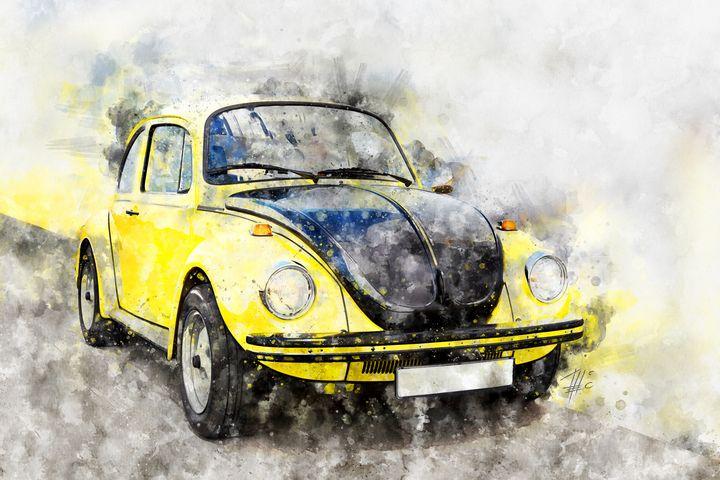 VW Beetle Yellow-Black Racer - Theodor Decker
