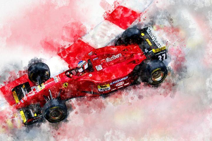 Jean Alesi Ferrari - Theodor Decker