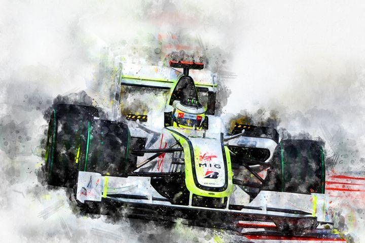 Jenson Button Brawn 2009 - Theodor Decker