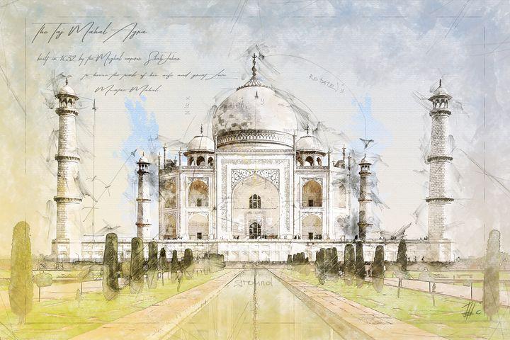 Taj Mahal, Agra India - Theodor Decker