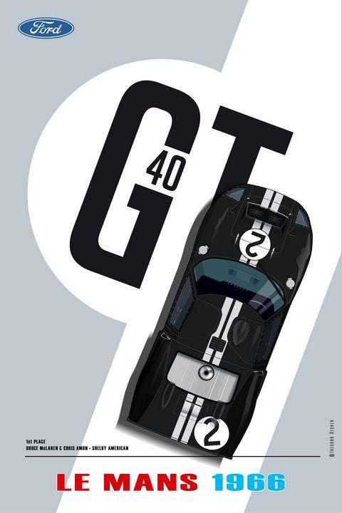 Ford GT40, Bruce McLaren, Chris Amon - Theodor Decker