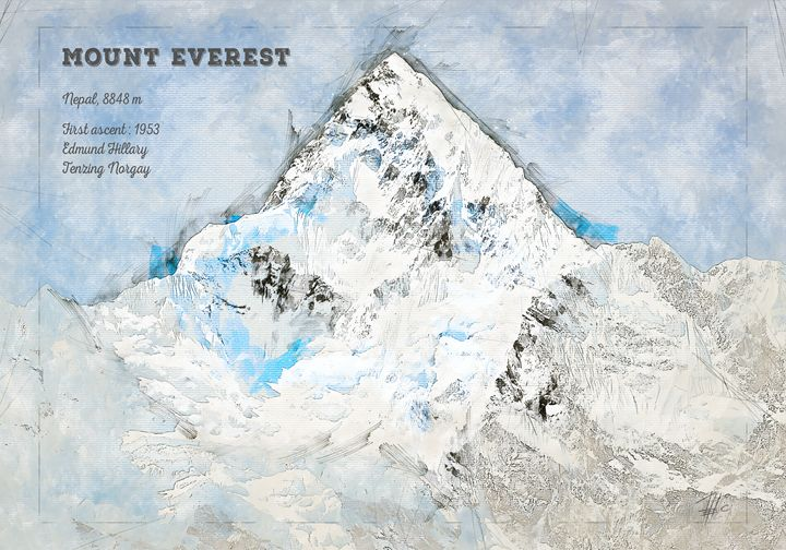 Mount Everest - Theodor Decker