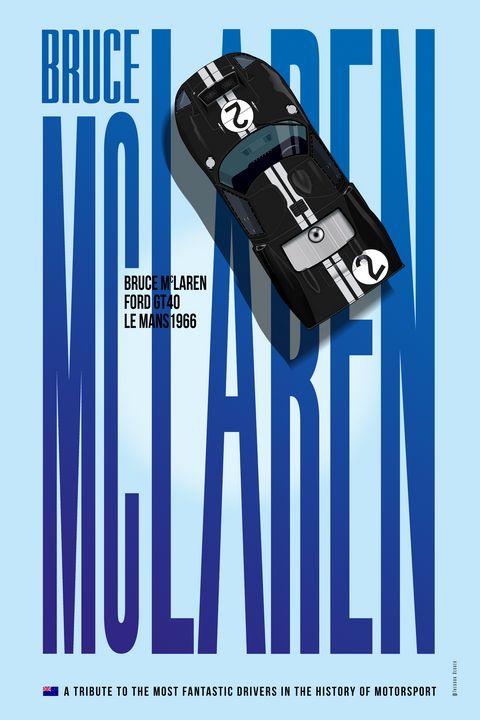 Bruce McLaren, Ford GT40 Tribute - Theodor Decker