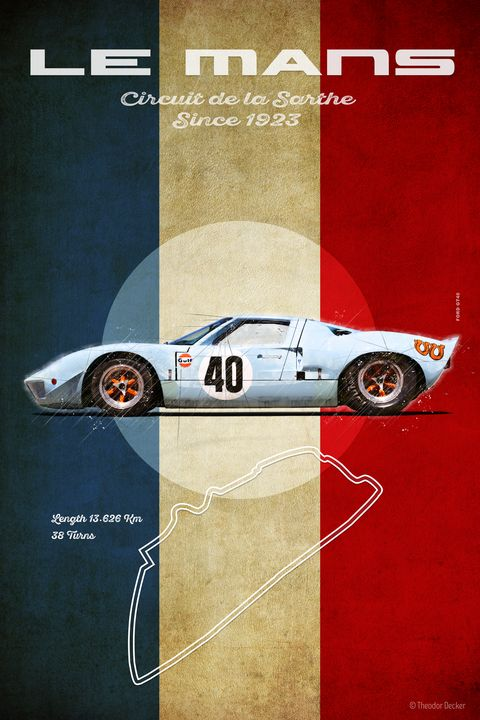 Ford GT40 at Le Mans Vintage - Theodor Decker