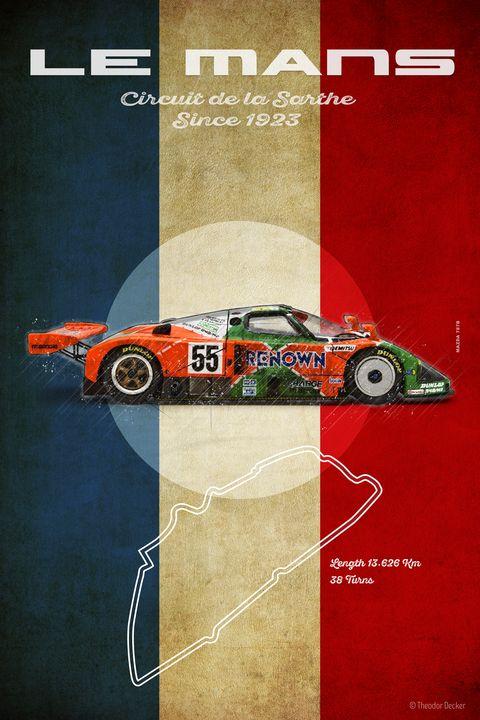 Mazda 787B Le Mans Vintage - Theodor Decker
